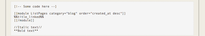 Custom code blocks
